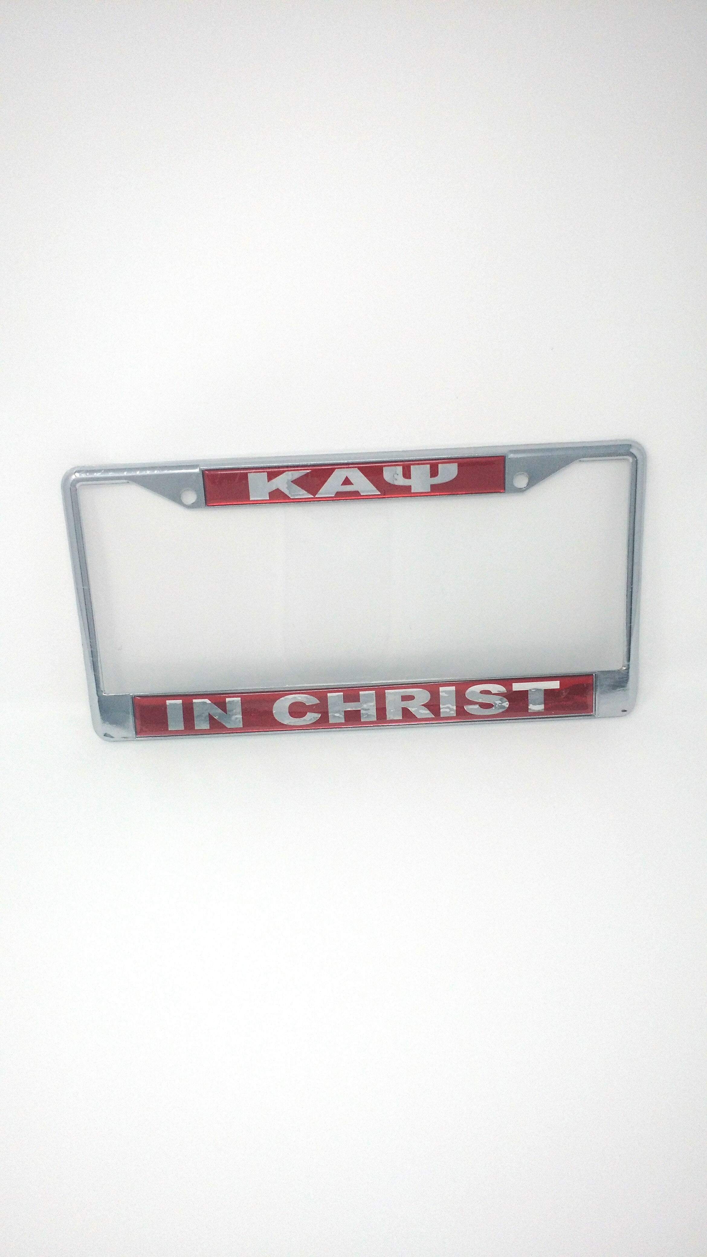 Kappa Alpha Psi In Christ License Plate Frame