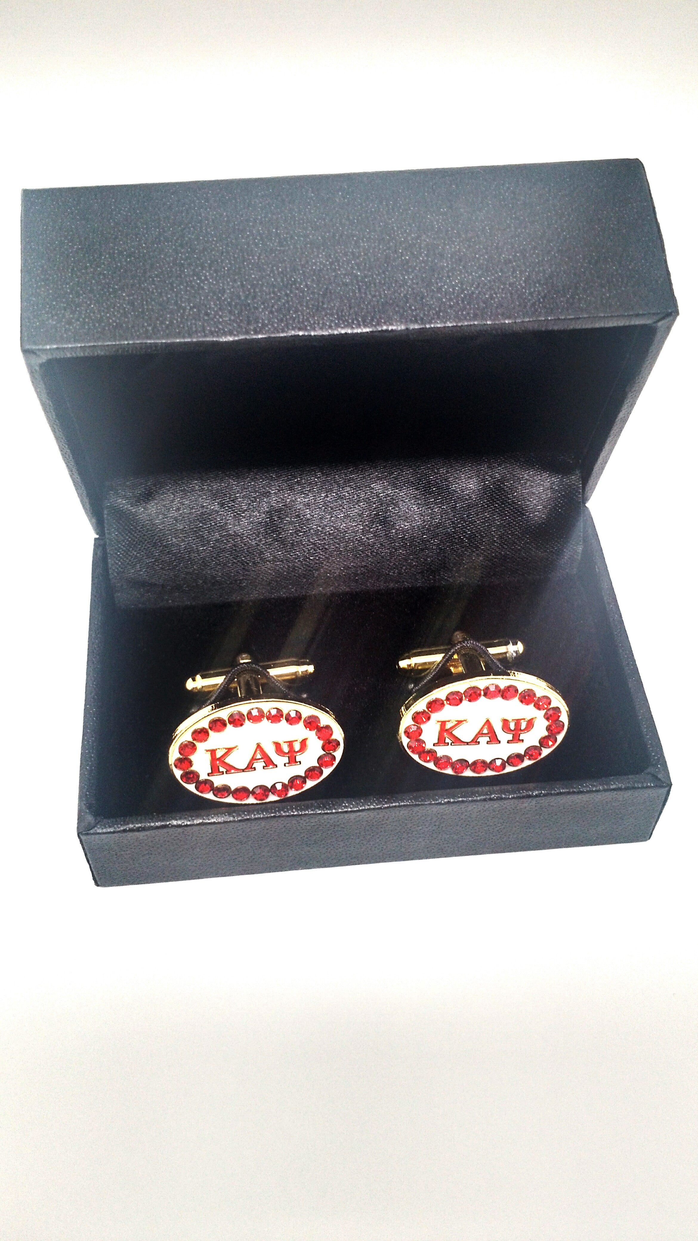 Kappa Alpha Psi Stone Cuff Links