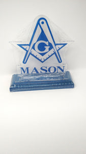 Mason Acrylic Desk Top Letters are perfect for any desk or as an addition to any room.