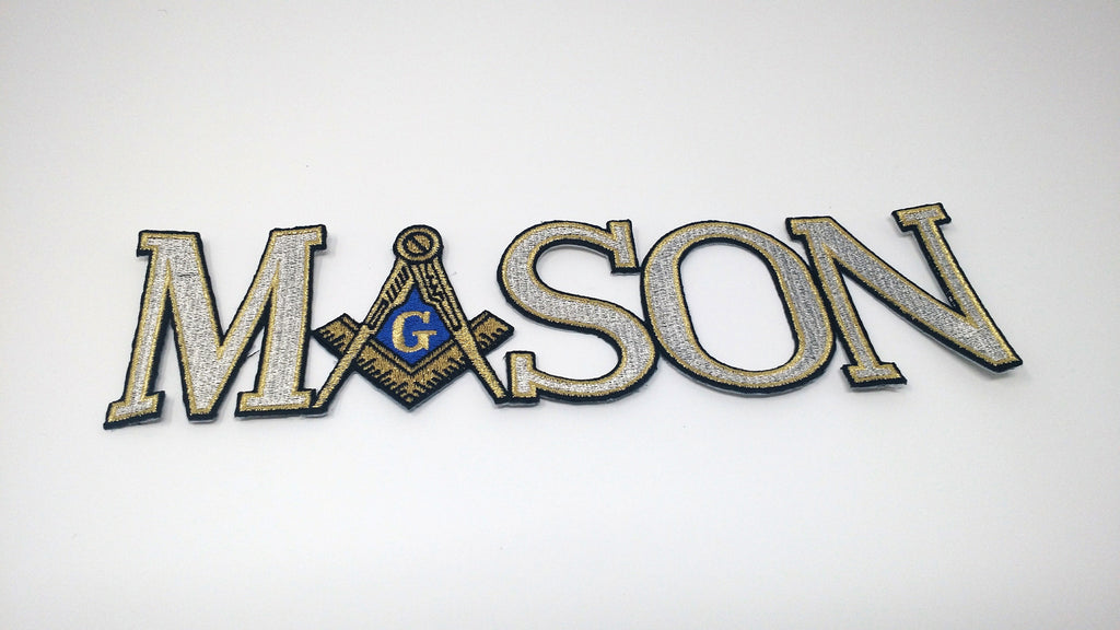 Mason Signature Large Letter Patch in silver.