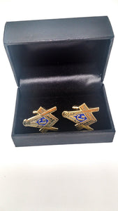 Mason Gold Shield Cuff Links
