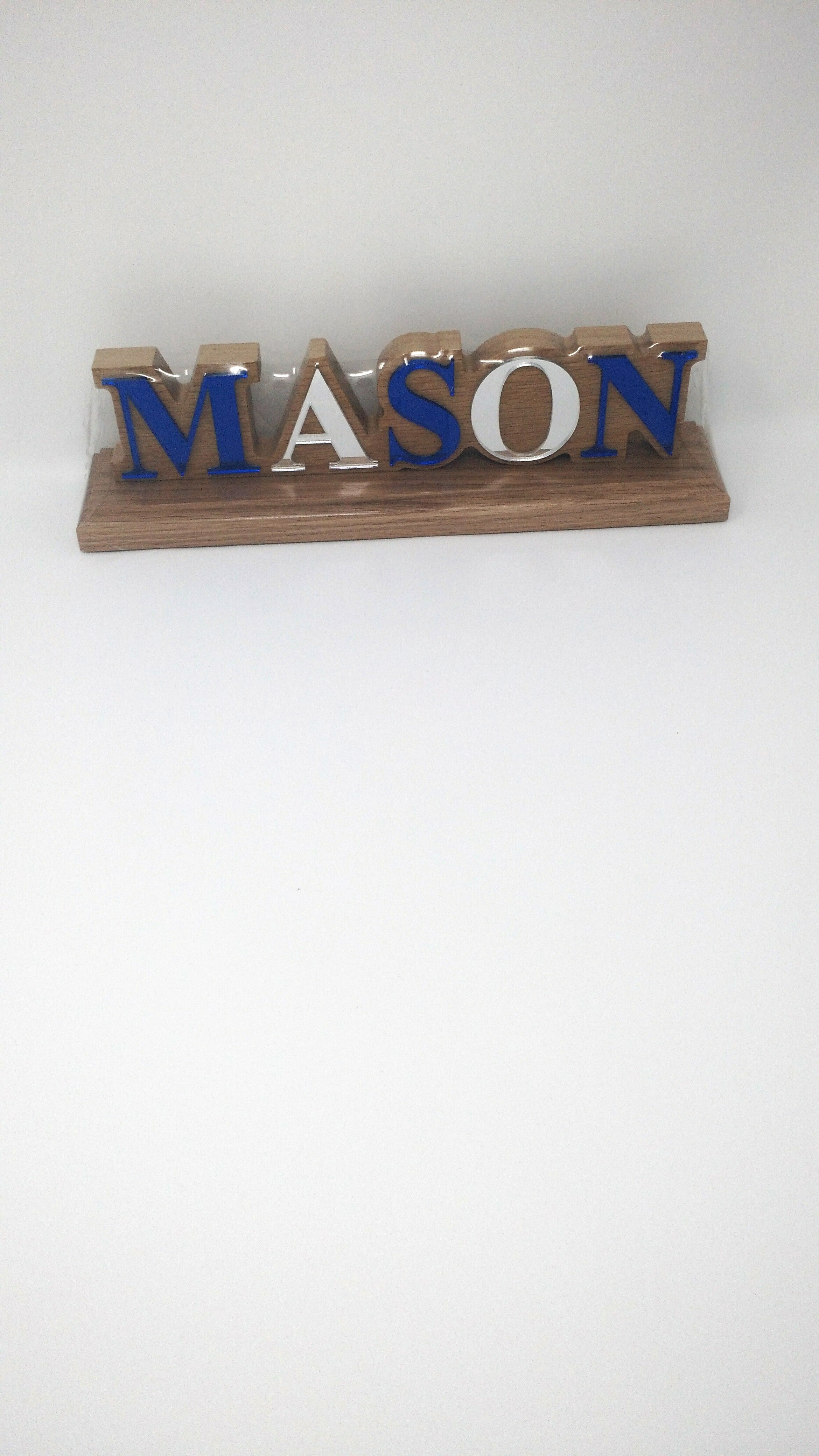 Mason Wood Desk Top Letters