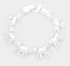 Elephant Linked Magnetic Bracelet