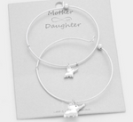 2 PCS - DOUBLE ELEPHANT CHARM MOTHER & DAUGHTER BRACELETS