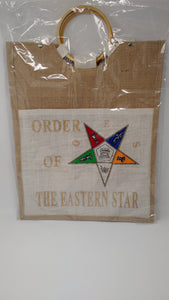 Order of Eastern Star Front Pocket Jute Bag