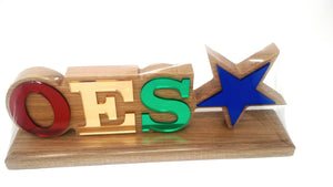 Order of Eastern Star Wood Desk Top Letters