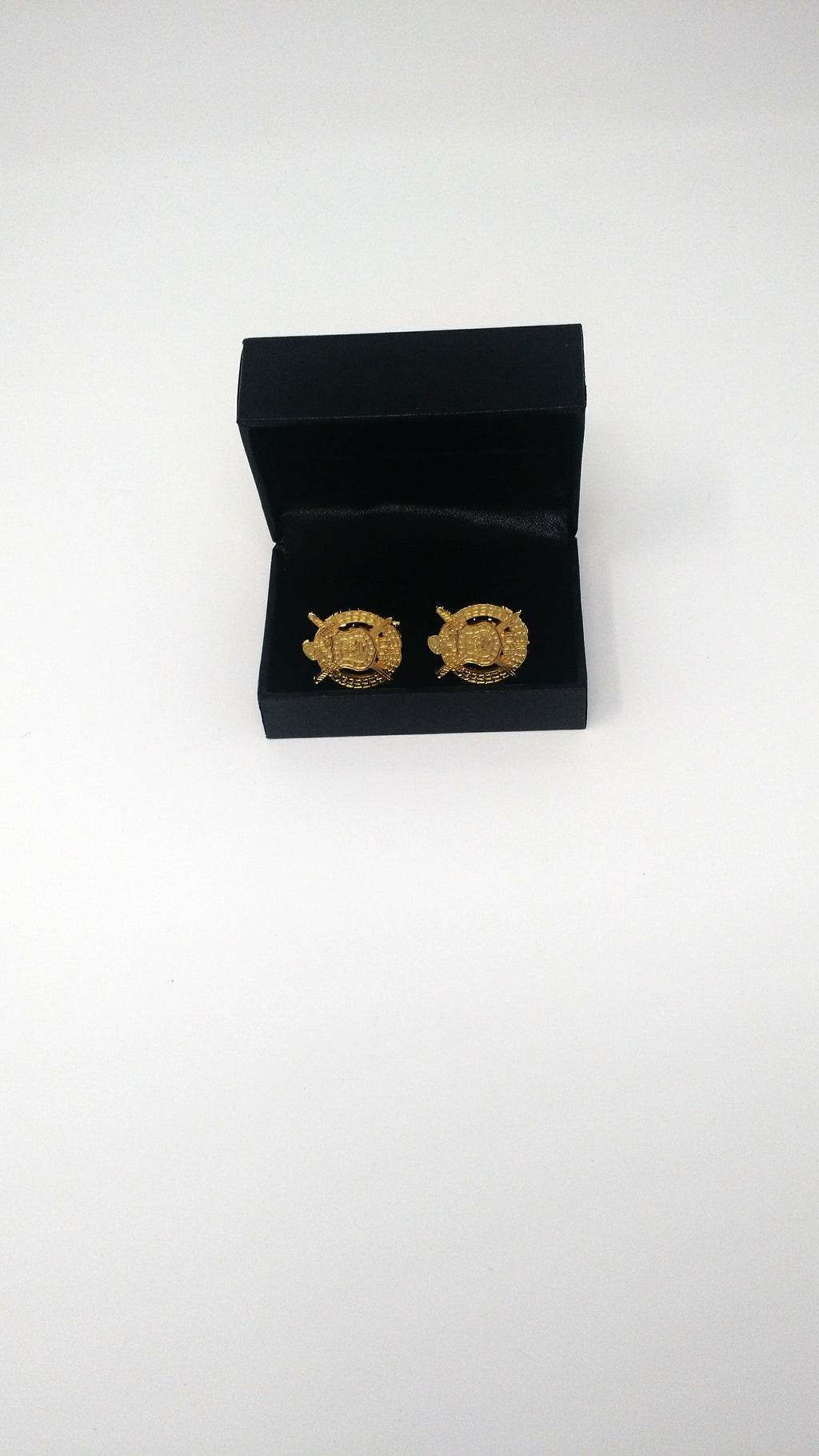 Omega Psi Phi Gold Crest Sandblast Cuff Links