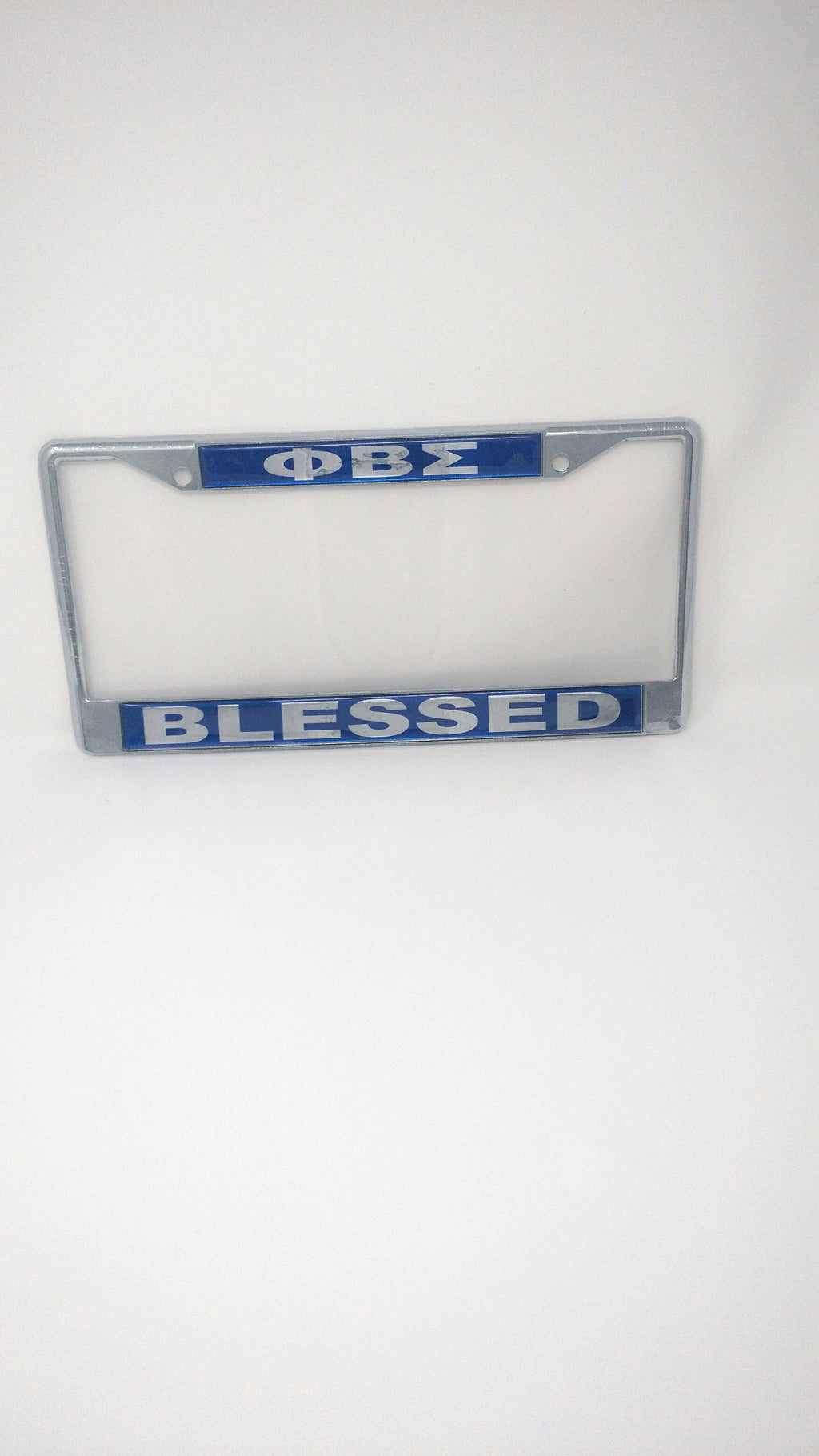 Phi Beta Sigma Blessed License Plate Frame