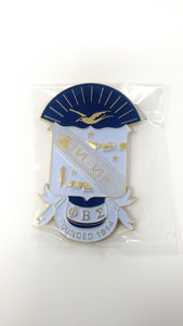 Phi Beta Sigma Shield Car Badge