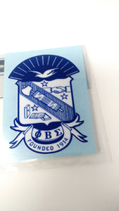 Phi Beta Sigma Shield Decal