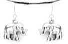 ELEPHANT EARRINGS- SILVER