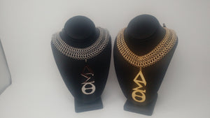 Delta Sigma Theta Large Greek Letter Necklace