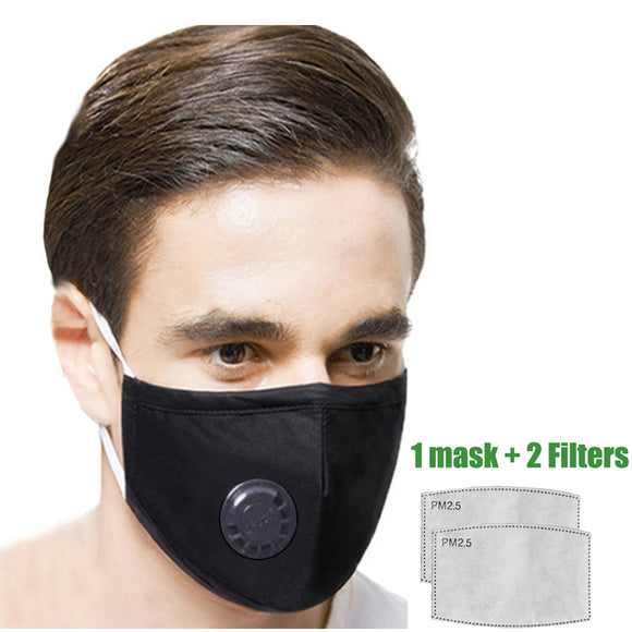 Delafino® Face Mask in Cotton - 4 Colors - with 2 Filters - Reusable/Washable
