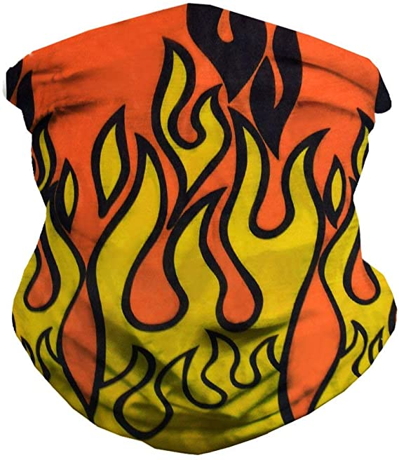 Bandana - Multifunctional Headwear - Neck Gaiter - Fire Flame Design