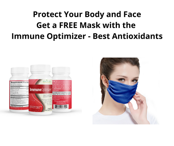 ✅  Immune Optimizer with a FREE Face Mask - Nature's STRONGEST Antioxidants & Much More!
