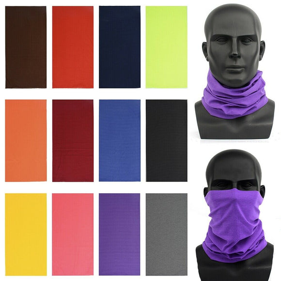 Bandana - Multifunctional Headband Neck Gaiter - Plain Colors