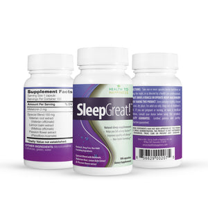 Sleep Great Natural Sleeping Pills - Special Blend Melatonin & more