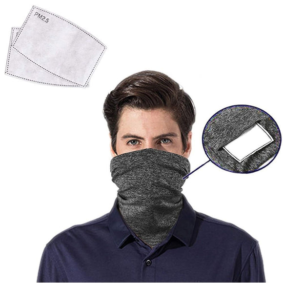 Neck Gaiter with Pocket for PM 2.5 Filter