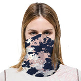 Bandana Neck Gaiter - Black/Pink, Lightweight & Comfortable