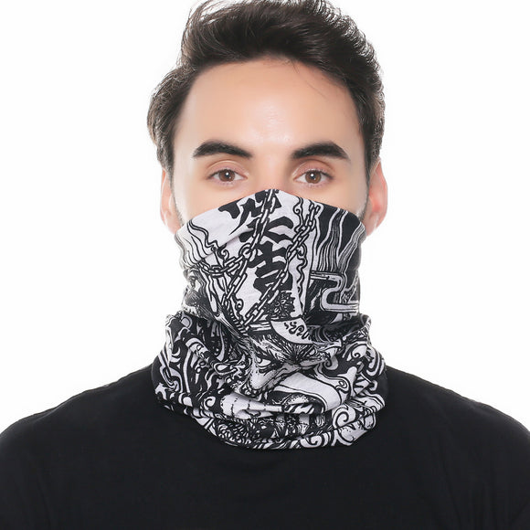 Bandana Perfect for Summer - Monster Design- One Size Neck Gaiter