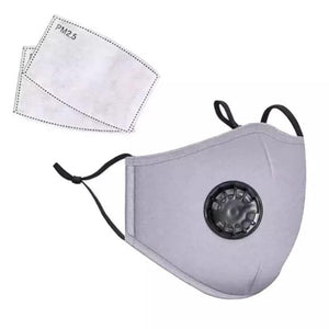 Face Mask in Cotton - 4 Colors - with 2 Filters - Reusable/Washable