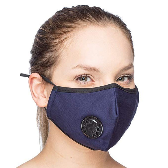 Delafino Face Mask in Cotton 4 Colors - with 2 filters - Reusable/Washable