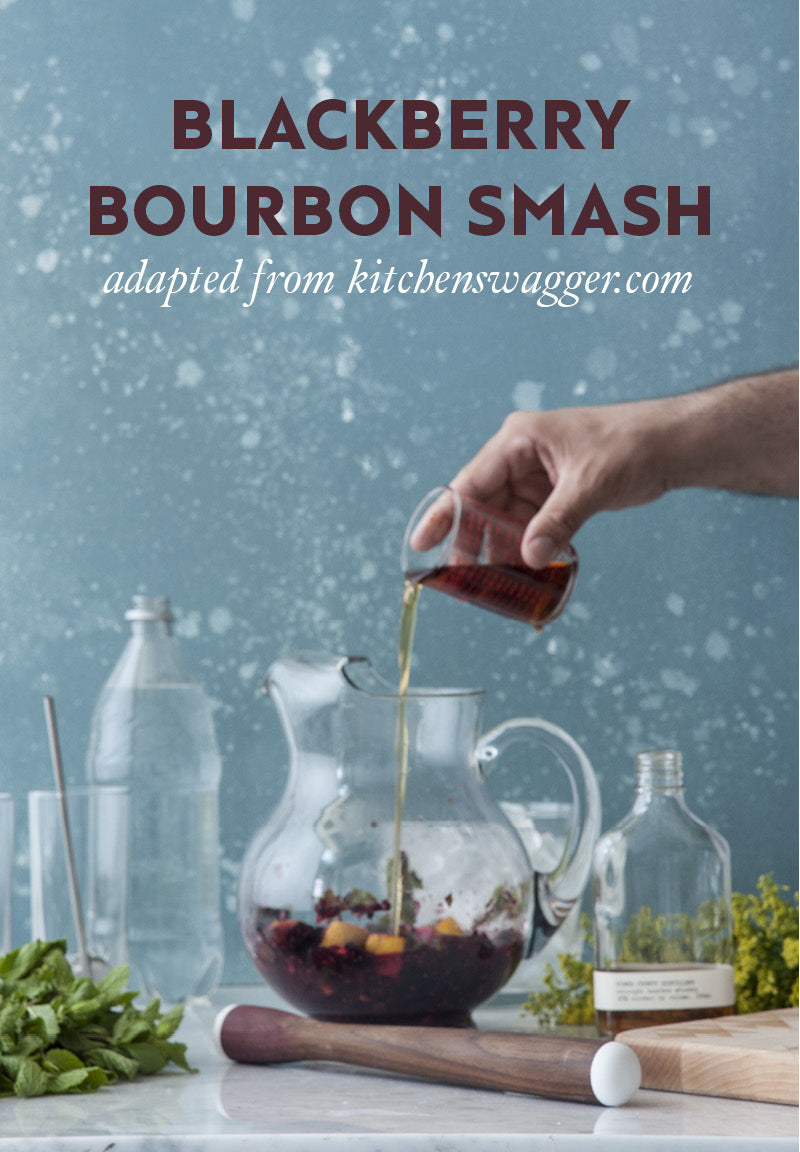 Blackberry Bourbon Smash cocktail recipe