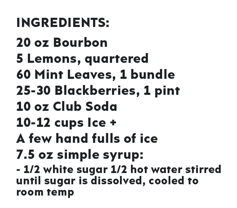 blackberry bourbon smash ingredient