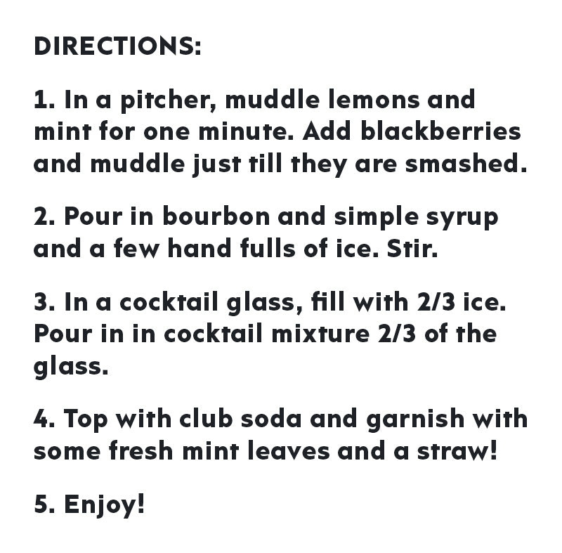 blackberry bourbon smash cocktail directions