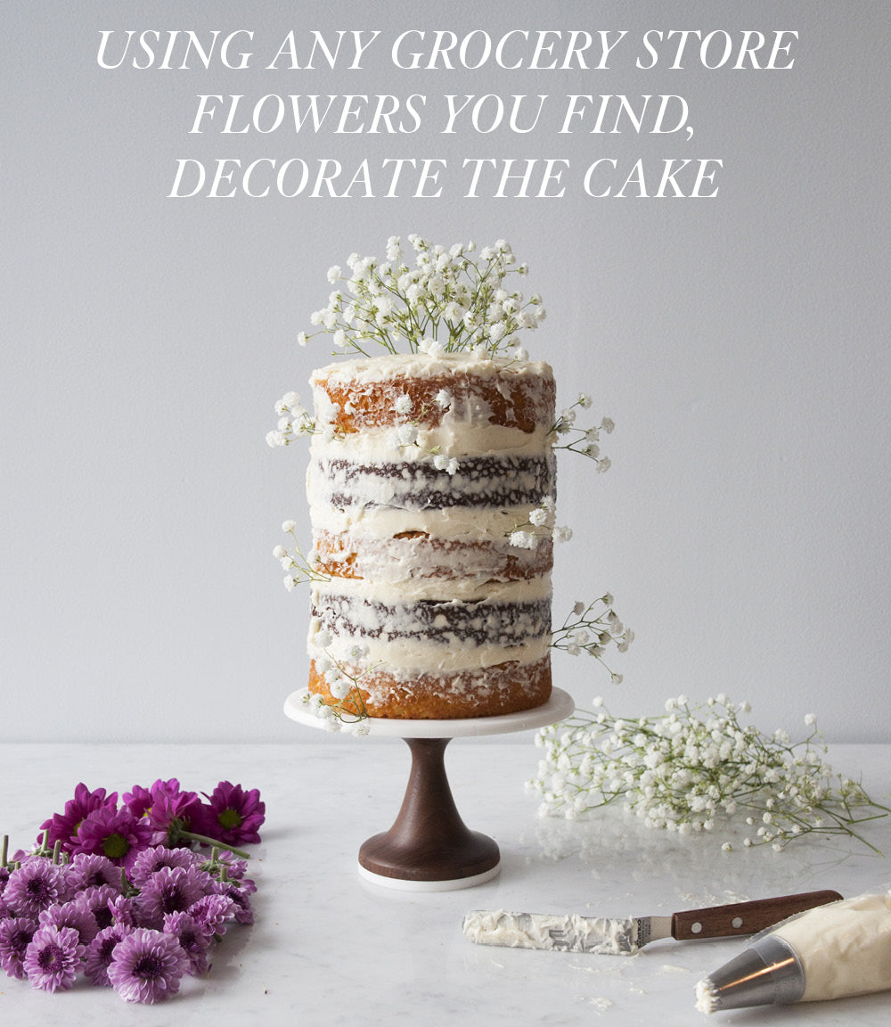 FLORAL CAKE WITH AMERICAN HEIRLOOM