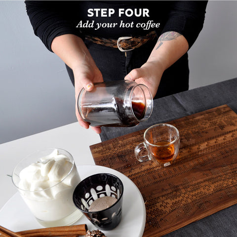 Step four: add your coffee