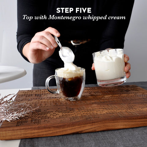 Step five: top with whipped cream