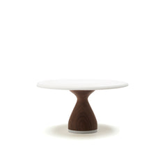 "AHeirloom's 6"" or  8"" Maple or Walnut Cake Stand Stout Base"