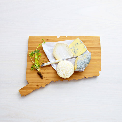 AHeirloom Connecticut State Shaped Cutting Board Cheese.jpeg