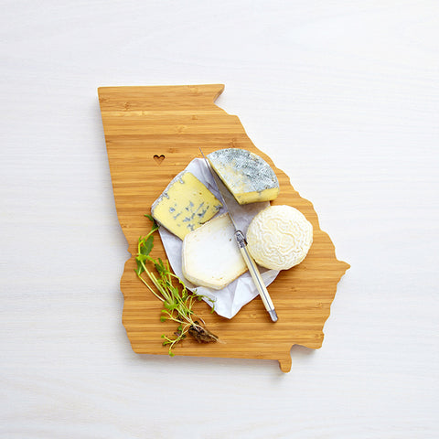 AHeirloom Georgia State Shaped Cutting Board Cheese.jpeg