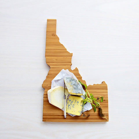 AHeirloom Idaho State Shaped Cutting Board Cheese.jpeg