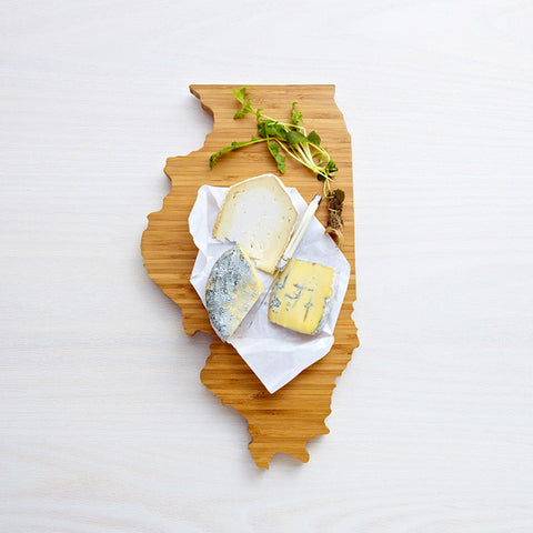 AHeirloom Illinois State Shaped Cutting Board Cheese.jpeg