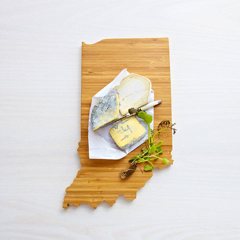 AHeirloom Indiana State Shaped Cutting Board Cheese.jpeg