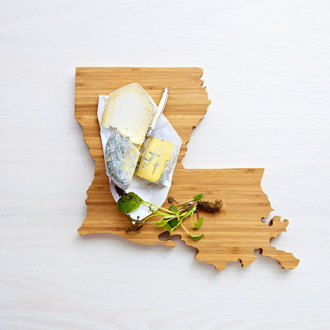 AHeirloom Louisiana State Shaped Cutting Board Cheese.jpeg