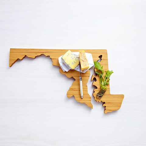 AHeirloom Maryland State Shaped Cutting Board Cheese.jpeg