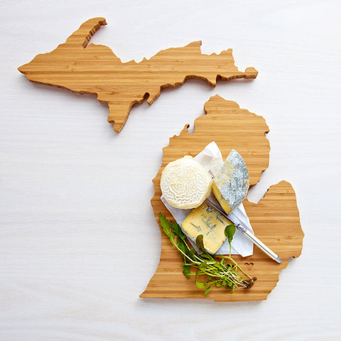 AHeirloom Michigan State Shaped Cutting Board Cheese.jpeg