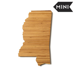 Mississippi Shaped Miniature Cutting Board