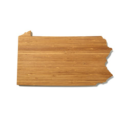 Pennsylvania Shaped Cutting Board