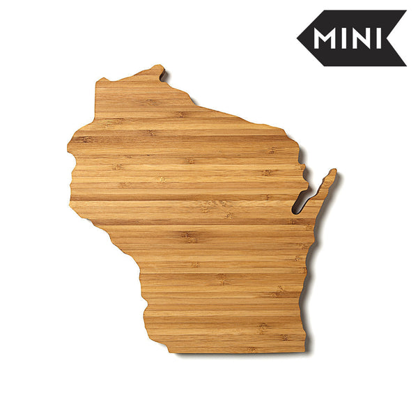 wisconsin state shaped miniature cutting board aheirloom. Black Bedroom Furniture Sets. Home Design Ideas