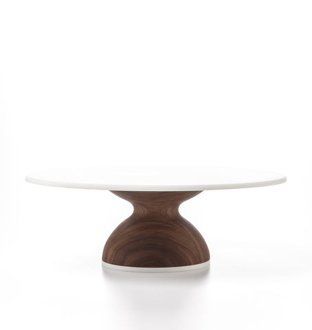 Wedding Cake Stand in Walnut: Thick Base by AHeirloom