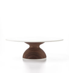 Wedding Cake Stand in Walnut: Thick Base