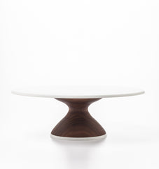 Wedding Cake Stand in Walnut: Thin Base