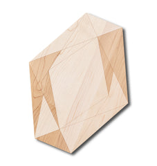 Large Geometric Gem Shaped Maple Cutting Board