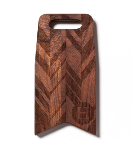 Monogram & Herringbone Pattern: 12x6 Cutting Board by AHeirloom