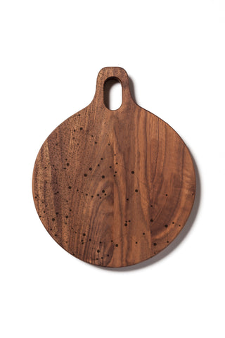 Round Hardwood Cutting Board with Galaxy Pattern-Walnut by AHeirloom